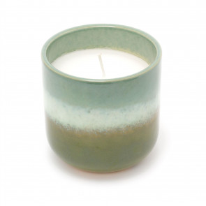 Ombre Glaze Ceramic Holder With Scented Candle | Eucalyptus Fragrance Candle And Pot | Decorative Candles