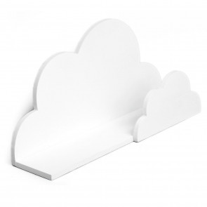 Baby Nursery Childs Bedroom Playroom Cloud Shaped Floating Book Shelf