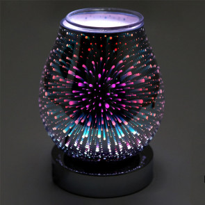 Glass Colour Changing Led Aroma Diffuser | Galaxy Electric Wax Melt Burner | Essential Oil Fragrance Burner | Aromatherapy Lamp - Design Varies One Supplied