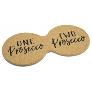 Novelty Prosecco Cork Double Drinks Coaster ~ Cup Mug Table Mat