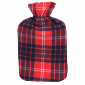 Patterned Fleece Hot Water Bottle | Hot Water Bottle With Cover | Natural Rubber Hot Water Bottles - Design Varies One Supplied