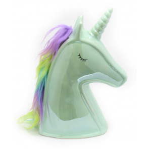Magical Unicorn Ceramic Money Box Piggy Bank - Mint Green
