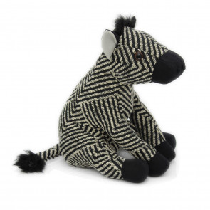 Fabric Black and White Striped Zebra Animal Doorstop ~ Novelty Decorative Door Stop