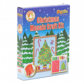 Childrens Christmas Art Craft Kit | Kids Creative Festive Mosaic Picture - Christmas Tree