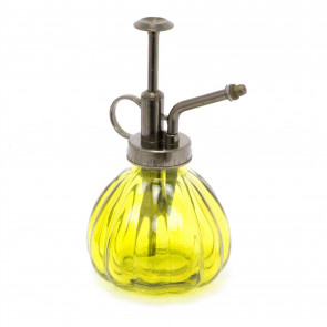 Plant Mister Glass Water Spray Bottle | Vintage Watering Can | Retro Plant Sprayer - Yellow