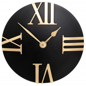 30cm Stylish Modern Gold and Black Wall Clock