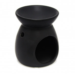 Ceramic Tealight Candle Holder Essential Oil Burner ~ Black