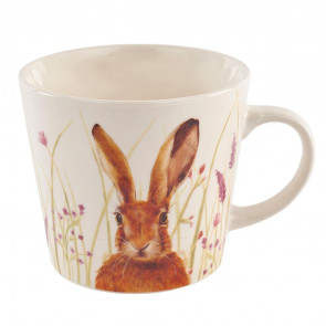 Ceramic Floral Rabbit Drinks Tea Cup - Beautiful Hare Coffee Mug