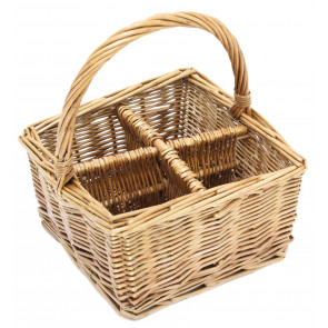 Lovely Willow Glass Cutlery Utensil Basket