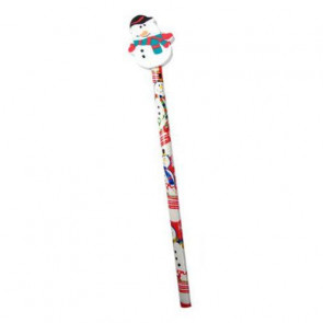 Christmas Eraser Top Pencil - Snowman