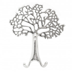 Stunning Aluminium Tree Of Life Wall Hook | Wall Mounted Coat Hanger Pegs | Decorative Silver Metal Wall Door Hooks