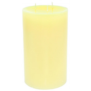 Elegant Handcrafted 3 Wick Cream Pillar Candle ~ Extra Large Ivory Wax Church Candle 23cm