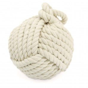 Heavy Nautical Knot Rope Doorstop ~ Novelty Door Stop, White Door Stop Ball