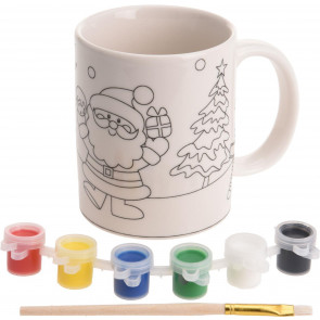Paint Your Own Christmas Mug Xmas Craft Activity Kit - design may vary