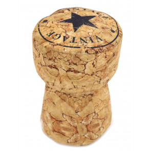 Champagne Cork Fabric Doorstop ~ Fun Novelty Bottle Stopper Door Stop
