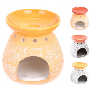 Kasbah Essential Oil Fragrance Burner | Oil Burner Tealight Candle Holder | Aromatherapy Lamp - Colour Varies One Supplied