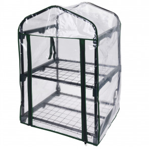 2 Tier Greenhouse with PVC Cover   Outdoor and Indoor Portable Mini Green House for Garden and Balcony - 80 cm