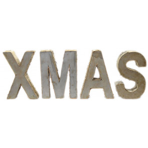 Distressed Iron Metal Birch Wood Xmas Letters Decorative Word Christmas Decoration