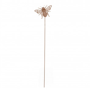 Decorative Metal Bee Plant Support Garden Stake | Honey Bee Plant Stake Outdoor Sculpture Decoration | Garden Stake Ornament Flower Canes