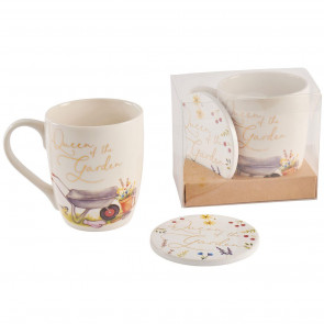 Queen Of The Garden Tea Coffee Hot Chocolate Drinks Mug And Coaster Set - Ideal Mothering Sunday Mother's Day Gift