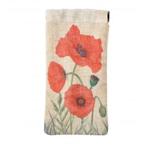 Floral Fabric Poppy Spectacle Glasses Case ~ Sunglasses Holder Pouch