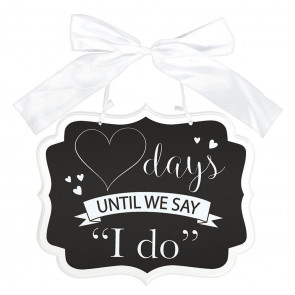 Days Until We Say I Do Wedding Countdown Calendar | Wedding Day Calendar Wooden Plaque | Bridal Shower Engagement Party Gifts