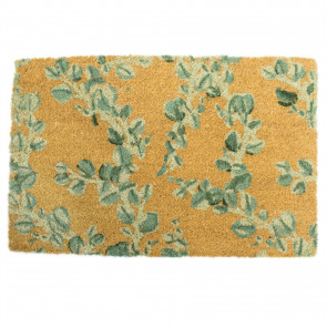 Eucalyptus Doormat - Rectangular 60x40cm Outdoor Coir Door Mat - Non-slip PVC Backed Coir Doormat