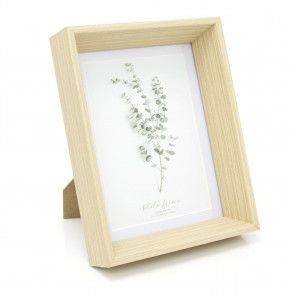5x7 Eucalyptus Wooden Photo Frame - 7x5 Photo Picture Frame - Freestanding and Wall Mountable 5x7 Picture Frame