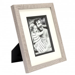 4 X 6 Grey Wooden Photo Frame | Freestanding Wall Mountable Single Aperture Picture Frame | 10 x 15cm Photo Holder