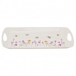 Busy Bee Floral Serving Tray | Kitchen Tea Coffee Tray | Melamine Drinks Trays