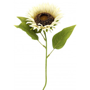 Single Stem White Artificial Sunflower Faux Flower 70cm