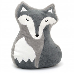 Cute Fox Doorstop - Novelty Decorative Fabric Animal Door Stop - Grey