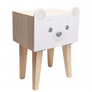 Cute Baby Bear Single Drawer Wooden Storage Unit Cabinet