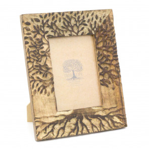 5x7 Tree Of Life Photo Frame | Freestanding Wooden Single Aperture Picture Frame | 13 x 18cm Photo Holder
