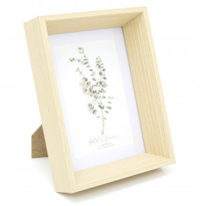 4x6 Eucalyptus Wooden Photo Frame - 6x4 Photo Picture Frame - Freestanding and Wall Mountable 6x4 Picture Frame
