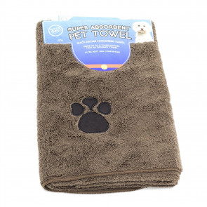 Super Absorbent Microfibre Pet Towel | Puppy Supplies Bath Grooming Dog Towel Robe | Dog Towels Absorbent Large