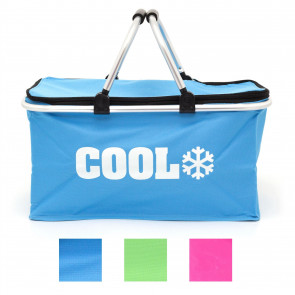 35L Cool Bag Insulated Picnic Basket   Portable Cooler Bag Lunch Hamper Bag   Camping Cooler Shopping Bag With Handles - Colour Varies One Supplied