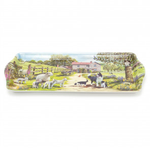 Country Farmhouse Serving Tray   Collie & Sheep Kitchen Tea Coffee Tray   Melamine Drinks Trays