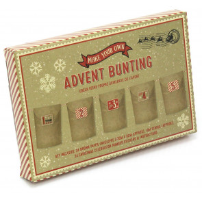 Make Your Own Christmas Advent Calendar Paper Bunting Garland Decoration