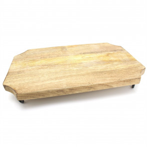 Kitchen Wooden Cutting Chopping Board On Legs ~ 40x25cm Beautiful Mango Wood Cutting Board Or Serving Platter
