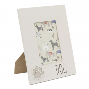 4 x 6 Photo Picture Frame For Dog Lovers | Pet Photo Frame With Quote | Paw Print Puppy Dog Frame - I Love My Dog