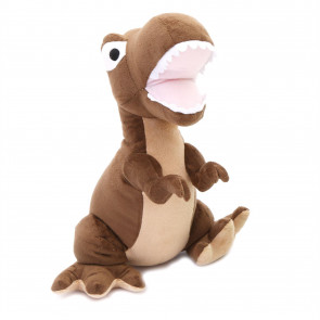 Cute Dinosaur Doorstop | Novelty Decorative Fabric Animal Door Stop | T-Rex Door Stopper - Brown