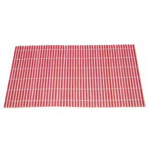 Bamboo Table Placemat | Eco Friendly Dining Table Mats | Plate Mat Settings - Red