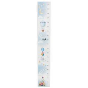 Children's Measuring Growth Height Chart For Bedroom Nursery Playroom - Blue