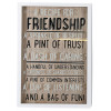 White Wooden Decorative Box Frame 3D Quote Hanging Sign Plaque ~ A Recipe For Friendship