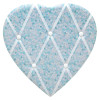 Ditsy Floral Fabric Heart Padded Memo Notice Photo Pin Board ~ Blue