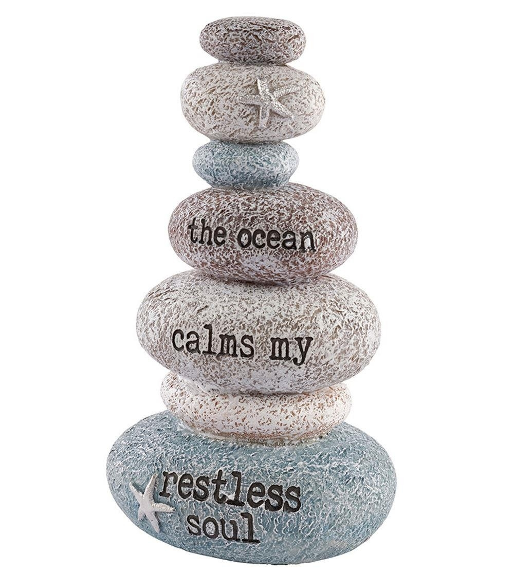 Stacking Pebbles Nautical Ornament